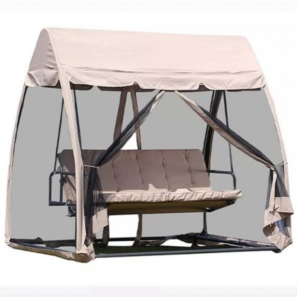 2 Seater Patio/Garden Swing Chair with Canopy
